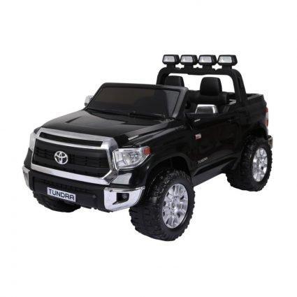Электромобиль Toyota Tundra черный (двухместный, колеса резина, кресло кожа, музыка, комплектация без пульта/с пультом)