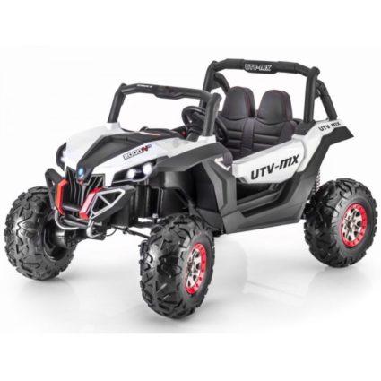 Электромобиль Buggy XMX603 белый (2х местный, полный привод, колеса резина, кресло кожа, пульт, музыка)