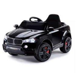 Детский электромобиль BMW X5 Style 12V - HL-1538 черный (колеса резина, сиденье кожа, пульт, музыка)