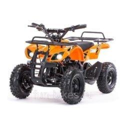 Детский квадроцикл на аккумуляторе MOTAX Mini Grizlik Х-16 мощностью 1000W оранжевый (пульт контроля, до 30 км/ч)