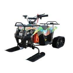 Детский снегоход Mini-Grizlik Snow (Снегоцикл) бомбер (до 30 км/ч, дисковые тормоза, до 60 кг)