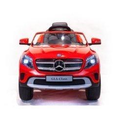 Электромобиль Mercedes Benz GLA красный (колеса резина, кресло кожа, пульт, музыка)